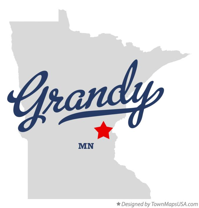 Map of Grandy Minnesota MN