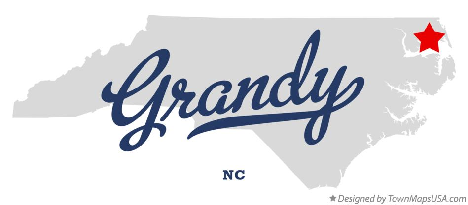 Map of Grandy North Carolina NC