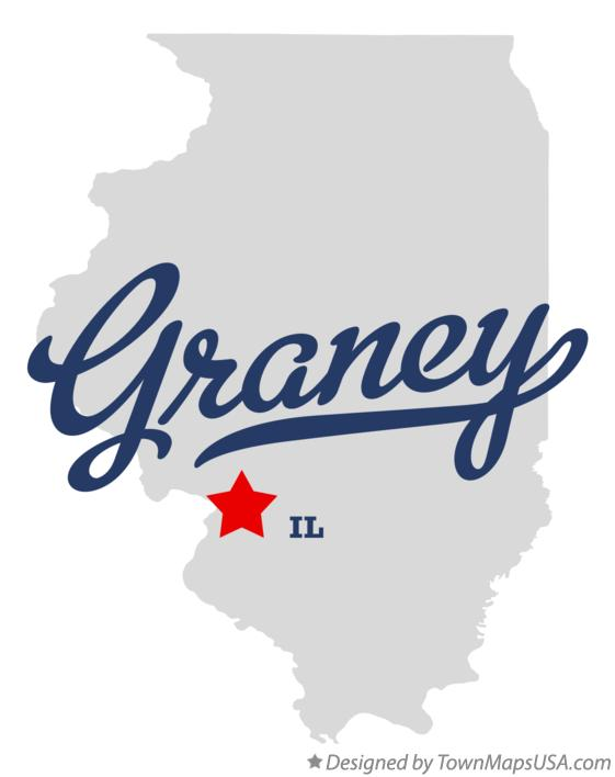 Map of Graney Illinois IL