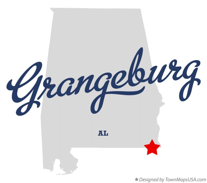 Map of Grangeburg Alabama AL