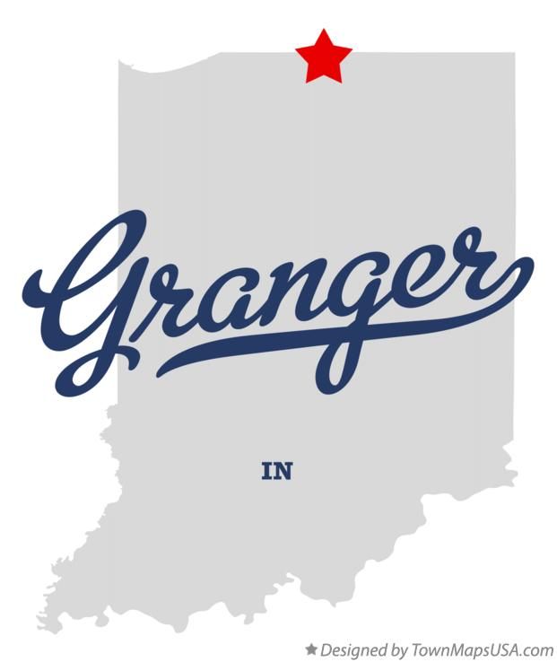 Map of Granger Indiana IN