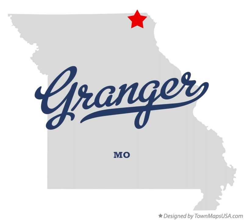Map of Granger Missouri MO