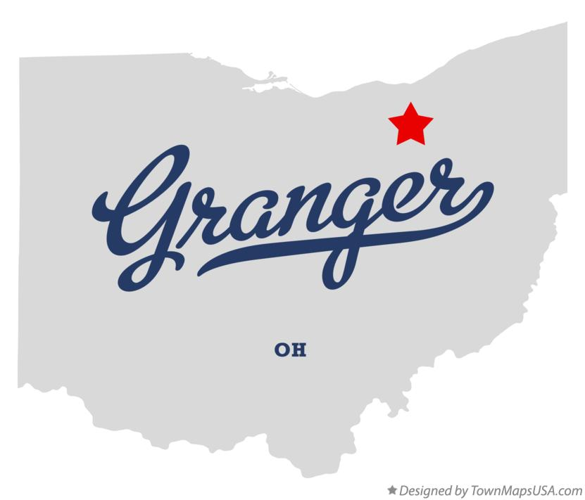 Map of Granger Ohio OH