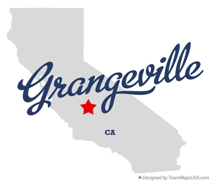 Map of Grangeville California CA