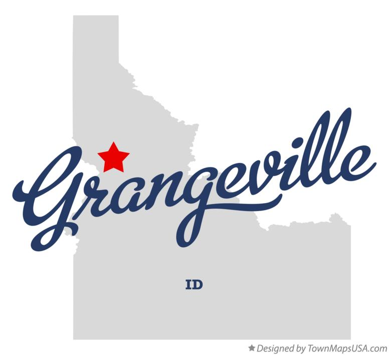 Map of Grangeville Idaho ID