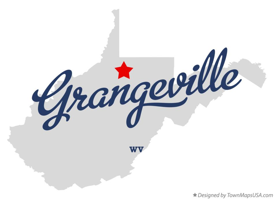 Map of Grangeville West Virginia WV