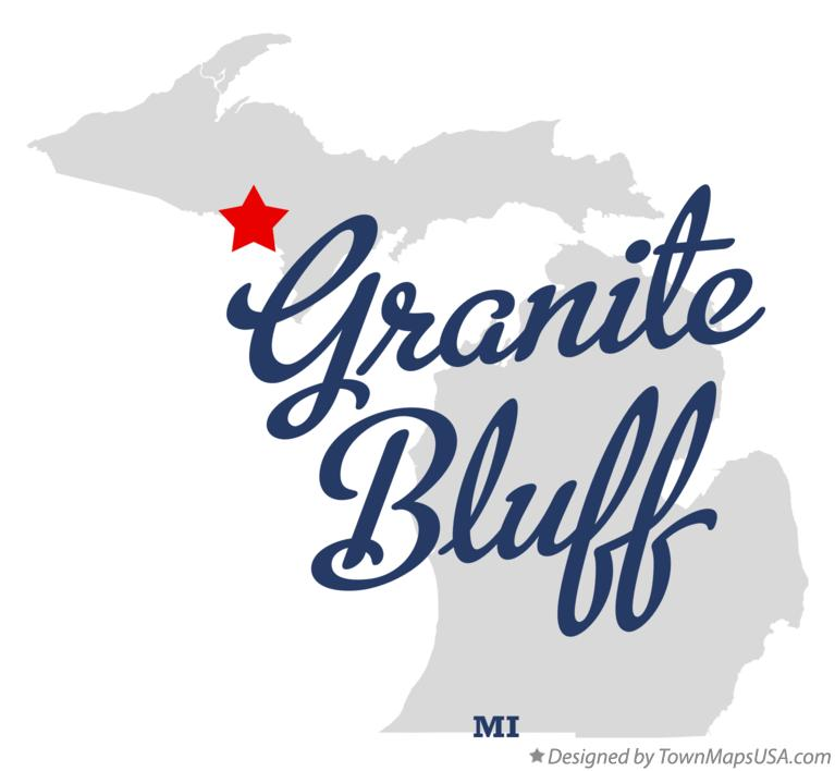 Map of Granite Bluff Michigan MI