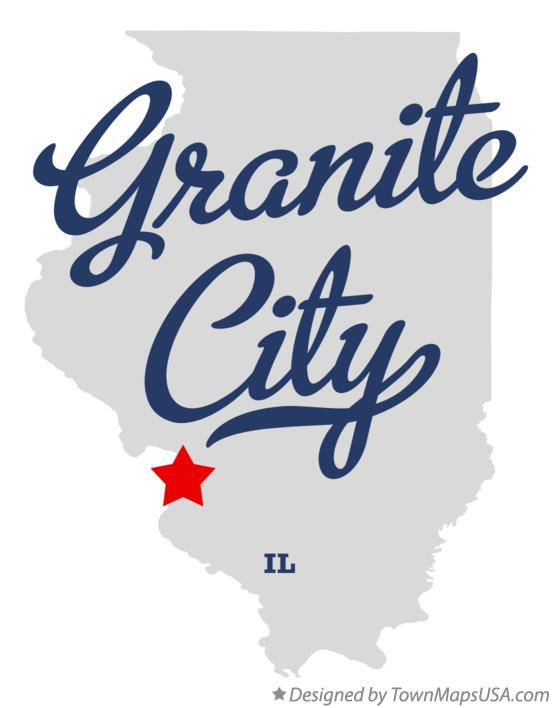 Map of Granite City Illinois IL