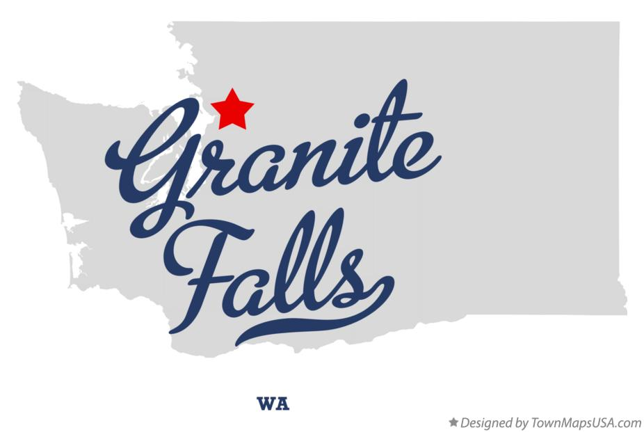 Map of Granite Falls Washington WA