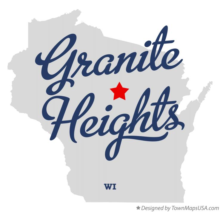 Map of Granite Heights Wisconsin WI