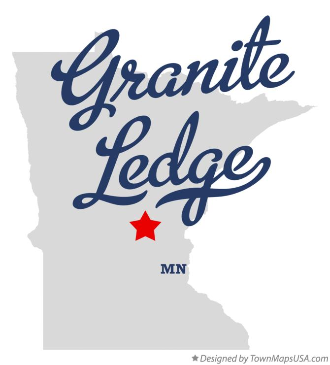 Map of Granite Ledge Minnesota MN