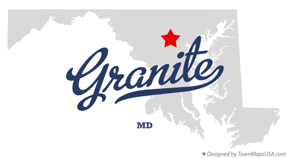 Map of Granite Maryland MD