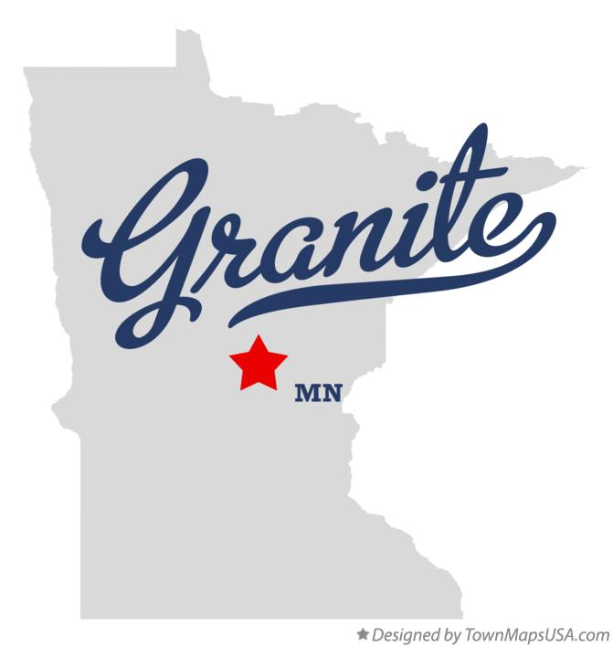 Map of Granite Minnesota MN