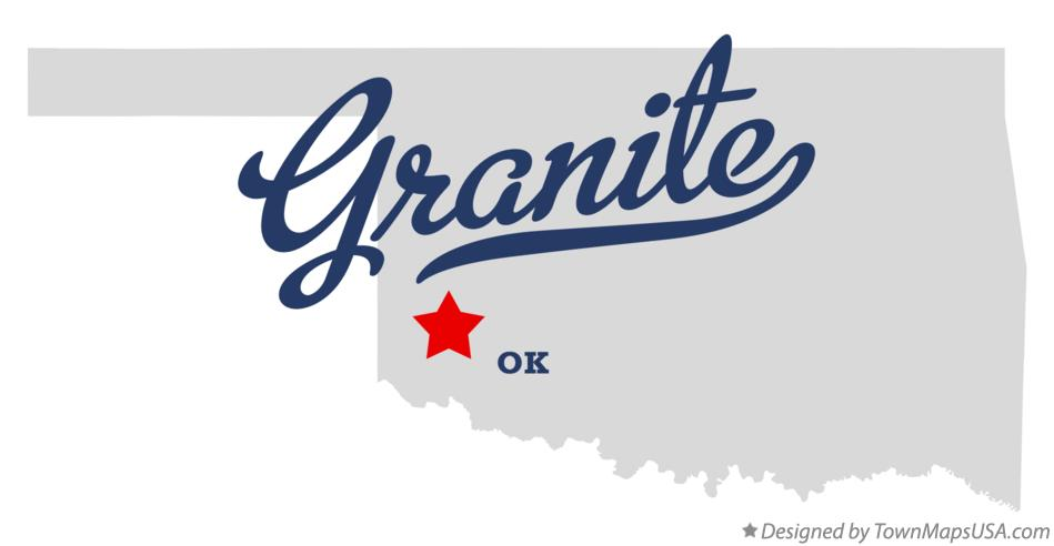 Map of Granite Oklahoma OK