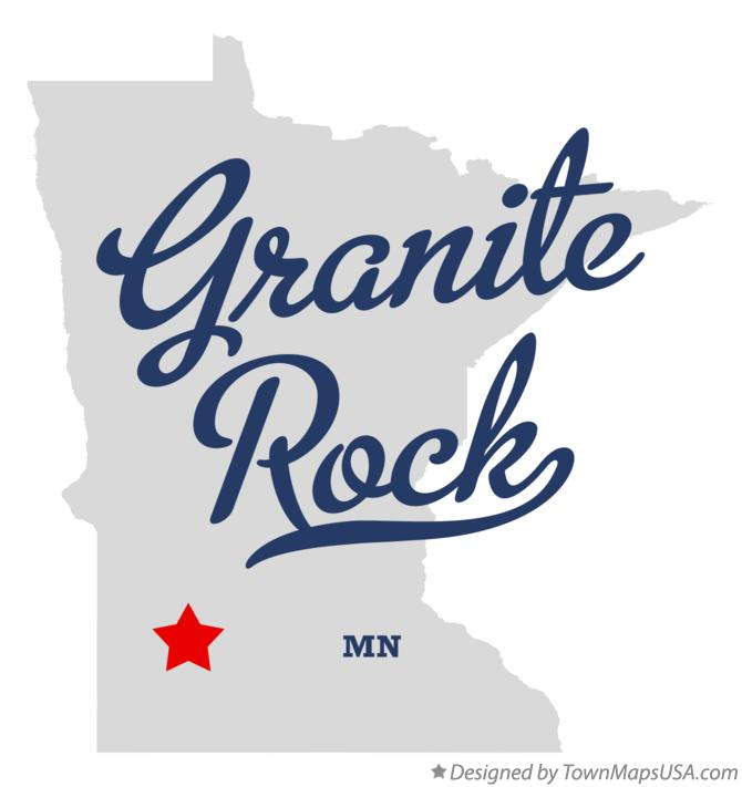 Map of Granite Rock Minnesota MN