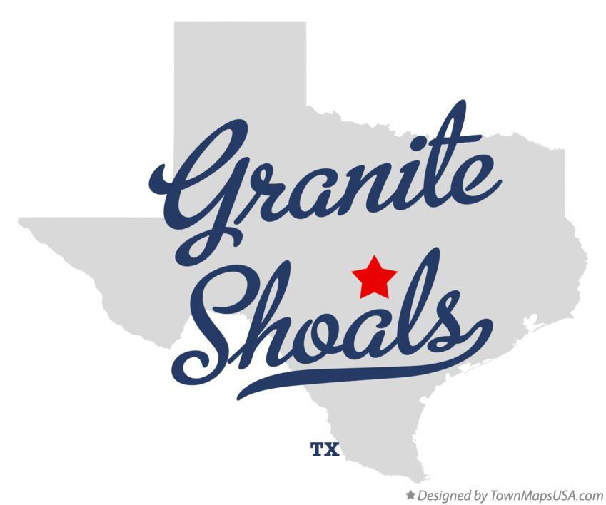 Map of Granite Shoals Texas TX