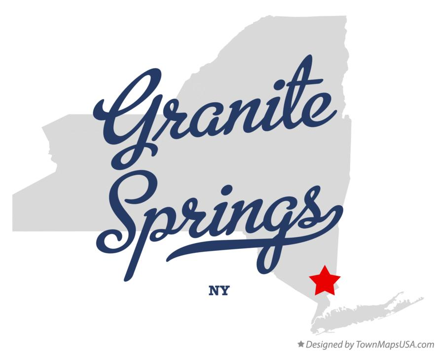 Map of Granite Springs New York NY