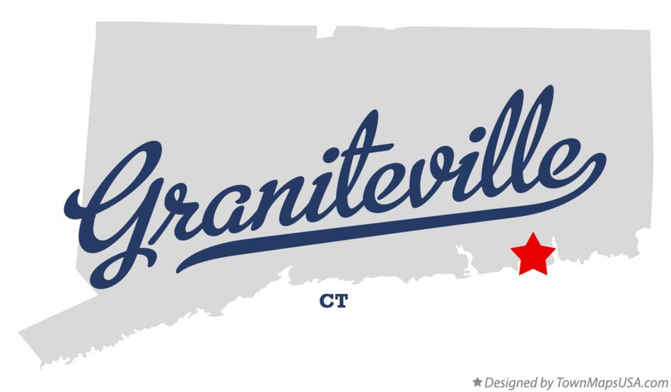 Map of Graniteville Connecticut CT