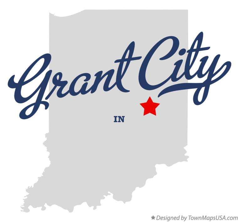 Map of Grant City Indiana IN