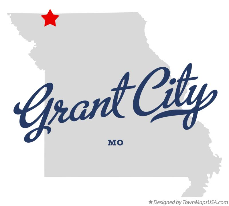 Map of Grant City Missouri MO