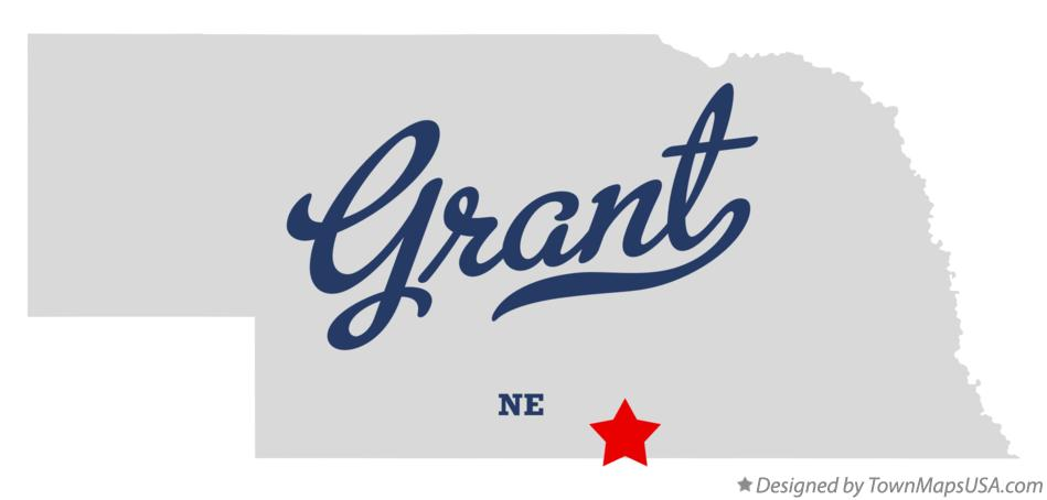 Map of Grant Nebraska NE