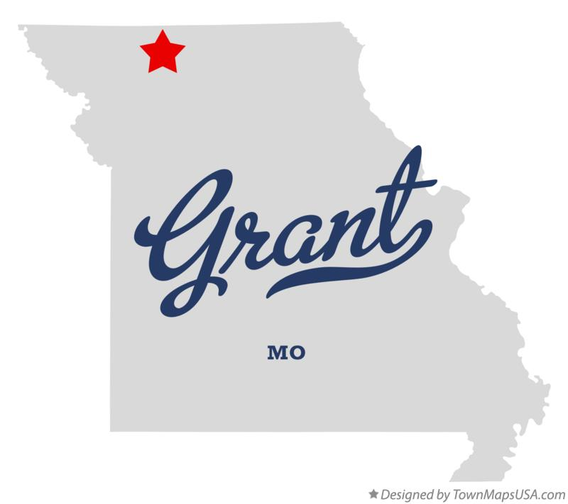 Map of Grant Missouri MO