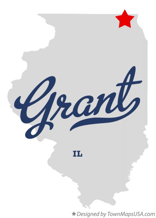 Map of Grant Illinois IL