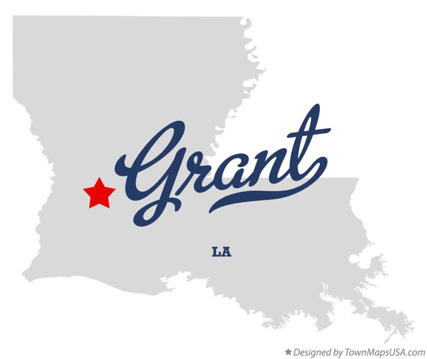 Map of Grant Louisiana LA