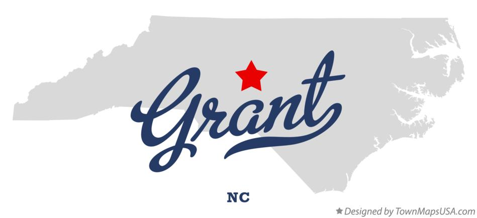Map of Grant North Carolina NC