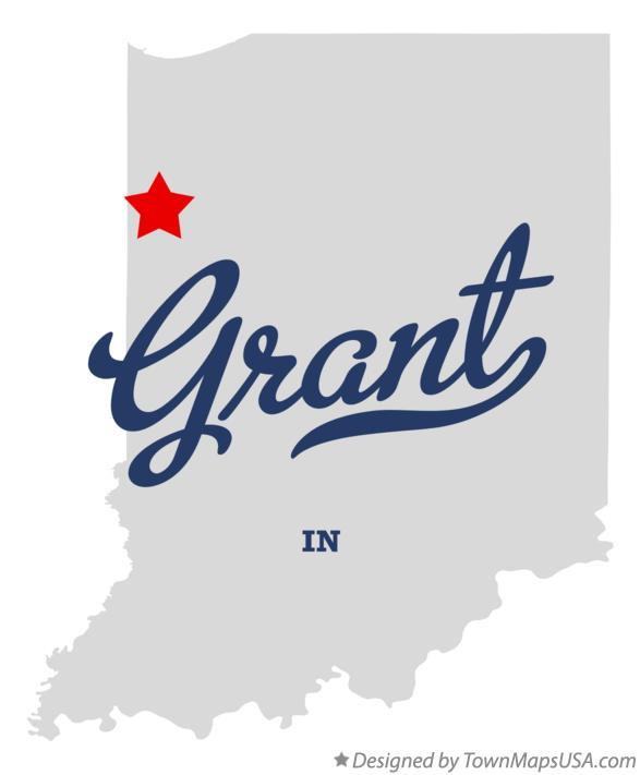 Map of Grant Indiana IN
