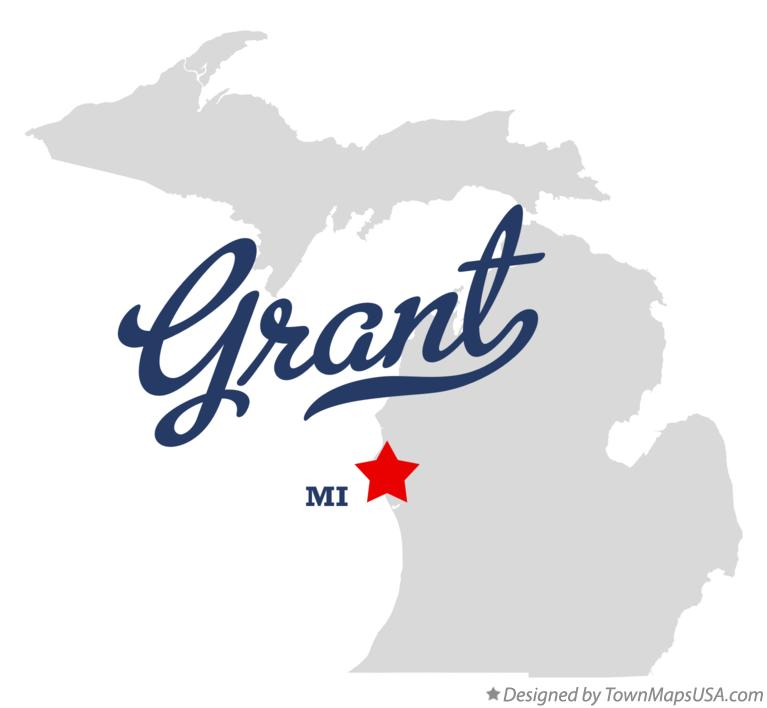 Map of Grant Michigan MI