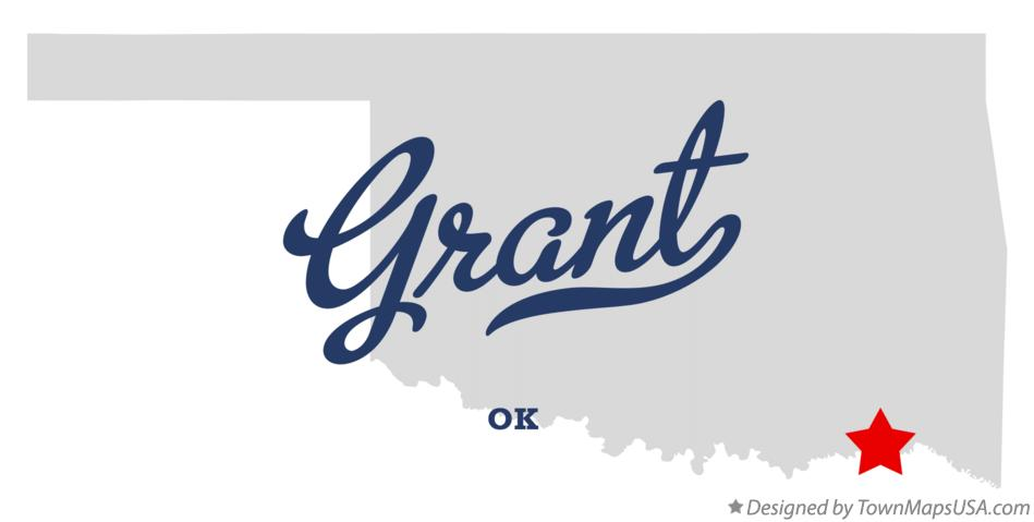 Map of Grant Oklahoma OK