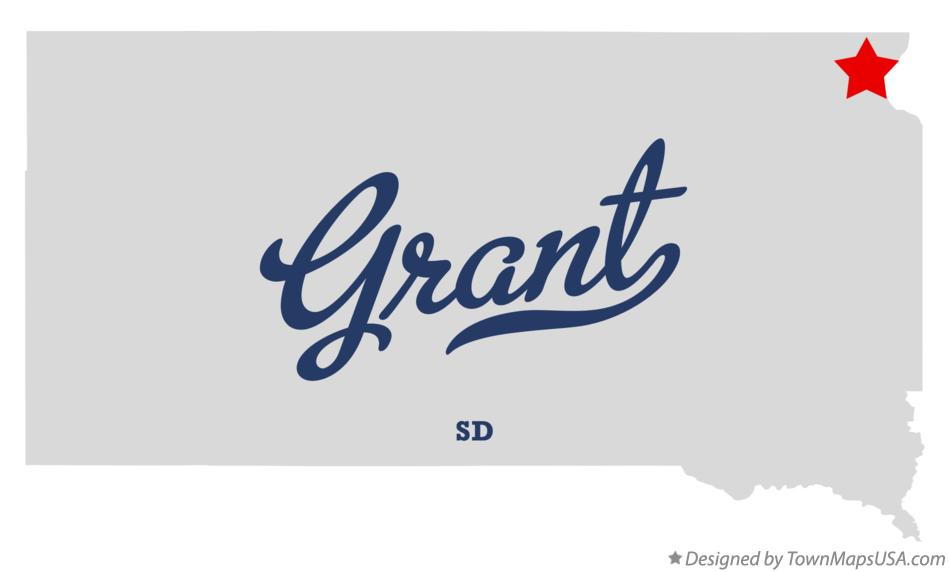Map of Grant South Dakota SD