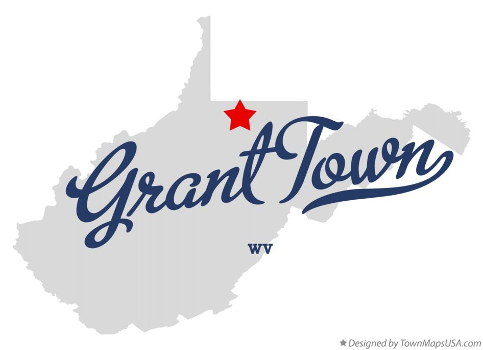 Map of Grant Town West Virginia WV