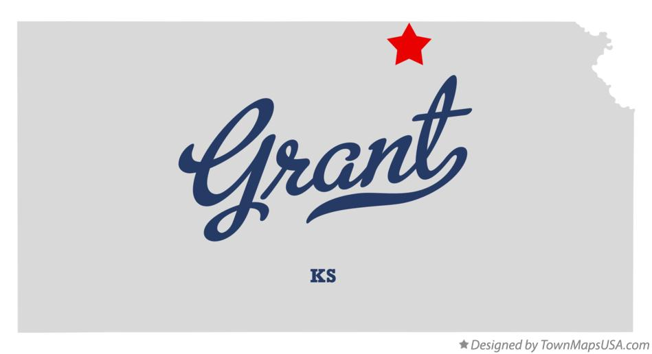 Map of Grant Kansas KS