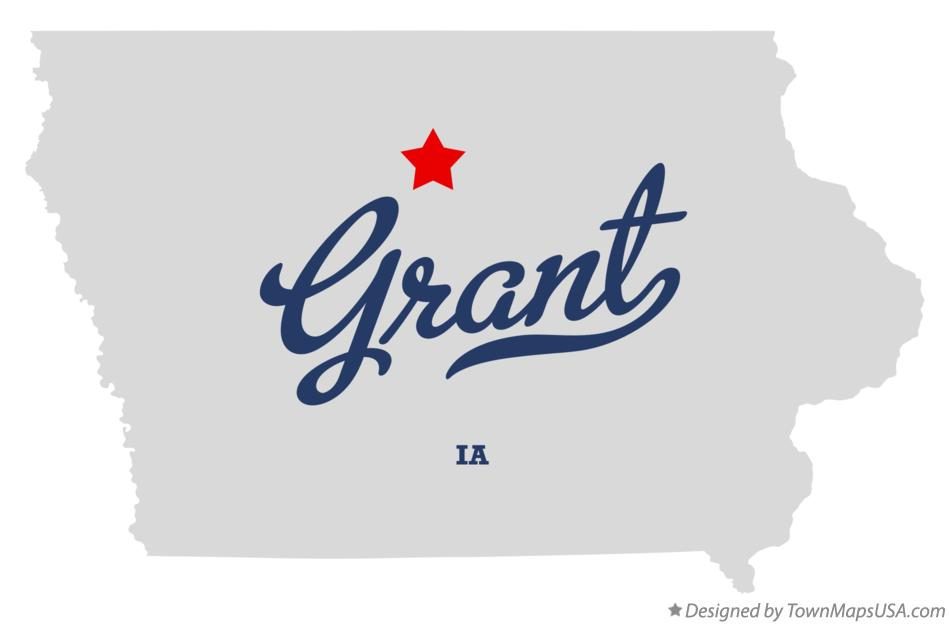 Map of Grant Iowa IA