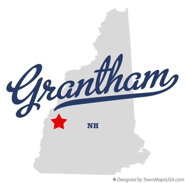 Map of Grantham New Hampshire NH