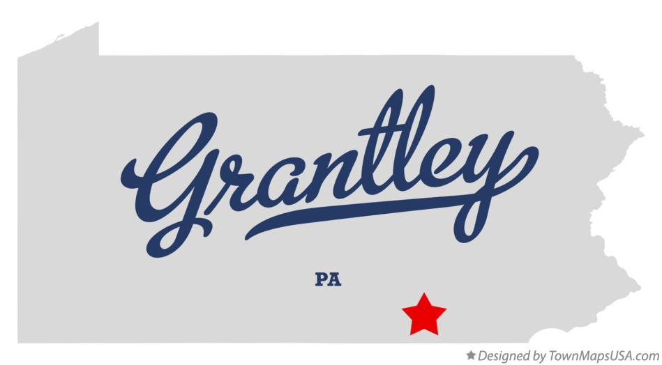 Map of Grantley Pennsylvania PA