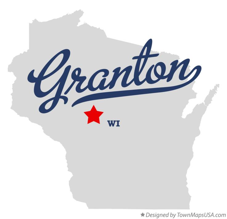 Map of Granton Wisconsin WI