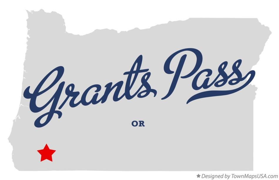Map of Grants Pass Oregon OR