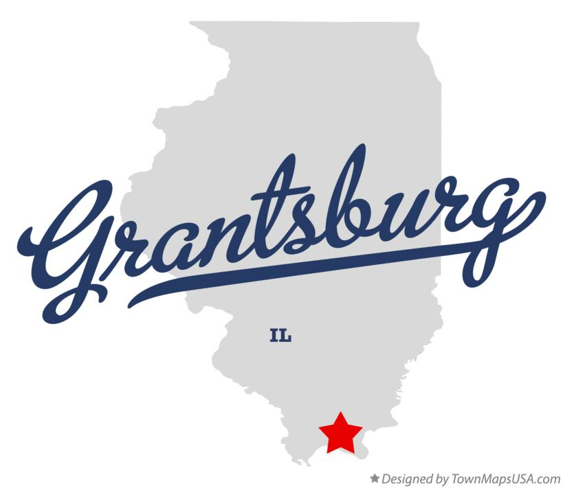 Map of Grantsburg Illinois IL