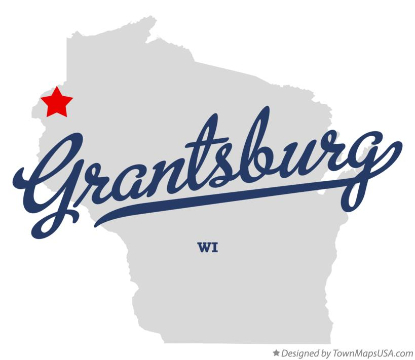 Map of Grantsburg Wisconsin WI