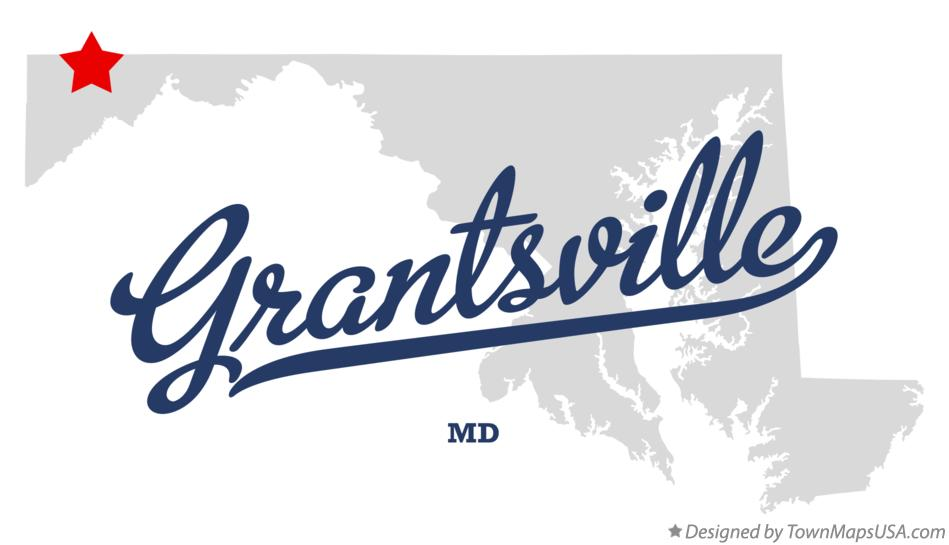 Map of Grantsville Maryland MD