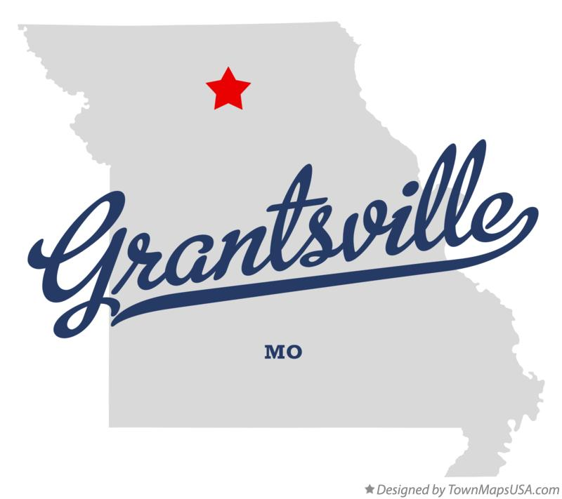 Map of Grantsville Missouri MO