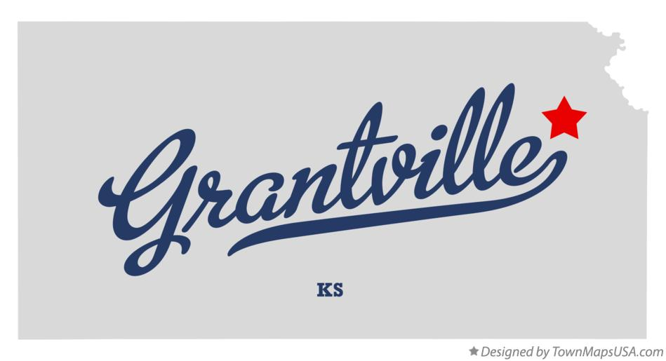 Map of Grantville Kansas KS