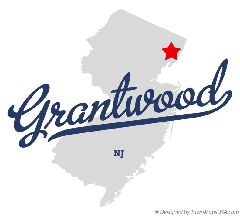 Map of Grantwood New Jersey NJ