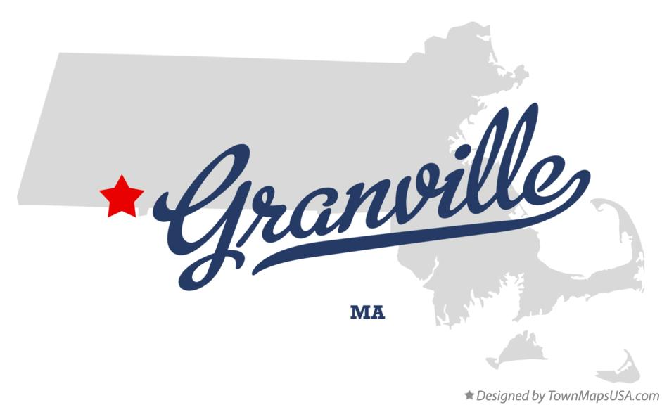 Map of Granville Massachusetts MA