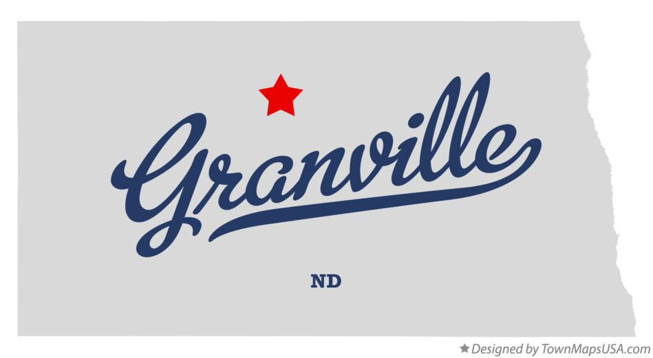 Map of Granville North Dakota ND