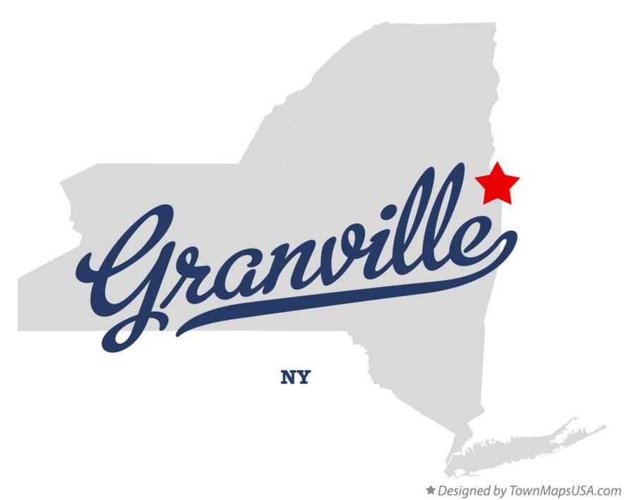 Map of Granville New York NY