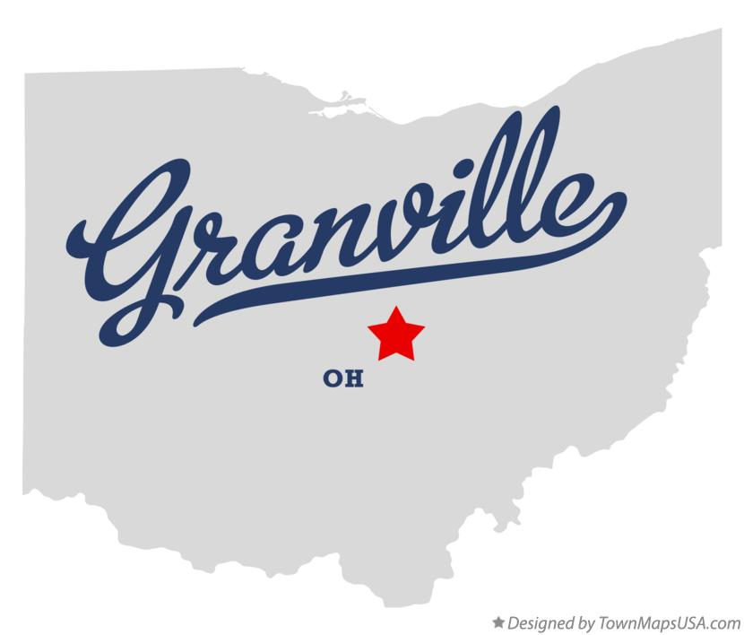 Map of Granville Ohio OH